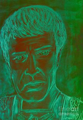 Mixed Media - Mark Antony In Copper Green by Joan-Violet Stretch