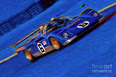 Photograph -  Mark Donohue Ferrari 512m Sunoco by Blake Richards