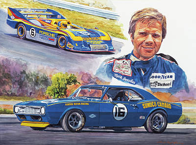 Portraits Royalty-Free and Rights-Managed Images - Mark Donohue Racing by David Lloyd Glover