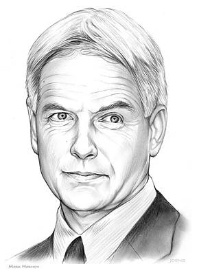 Hollywood Drawing - Mark Harmon by Greg Joens