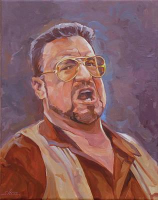 The Big Lebowski Painting - Mark It Zero by Shawn Shea