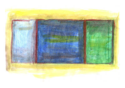 Painting - Mark Rothko Flying Southwest by Kevin Callahan
