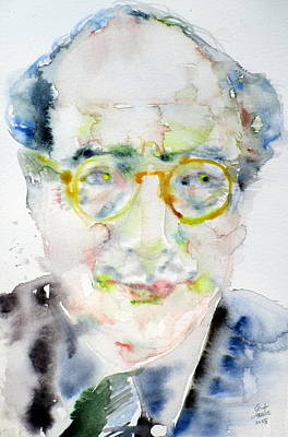 Painting - Mark Rothko - Watercolor Portrait.2 by Fabrizio Cassetta