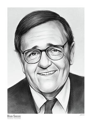 Drawing - Mark Shields by Greg Joens