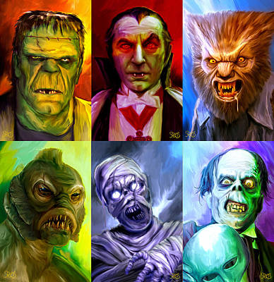 Mark Spears Monsters Group Art Print