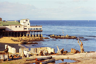 Photograph - Mark Thomas Outrigger Restaurant 700 Cannery Row  Monterey 1970 by California Views Mr Pat Hathaway Archives