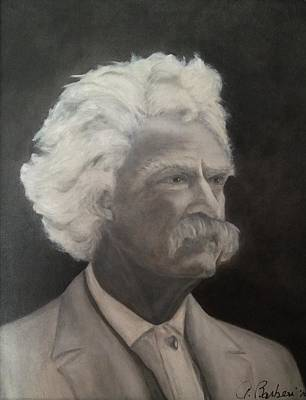 Painting - Mark Twain by Anne Barberi