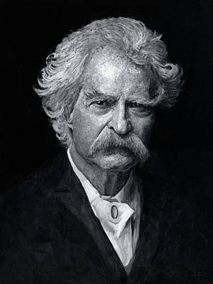 Painting - Mark Twain by Christian Klute