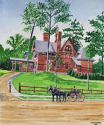 Painting - Mark Twain House Hartford Ct.1870's by Jeff Blazejovsky