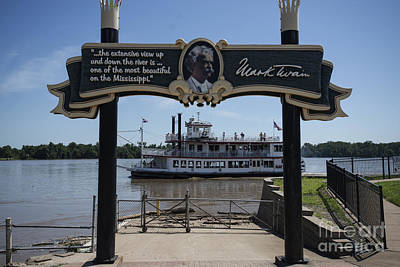 Becky Photograph - Mark Twain On The Big Muddy by David Bearden