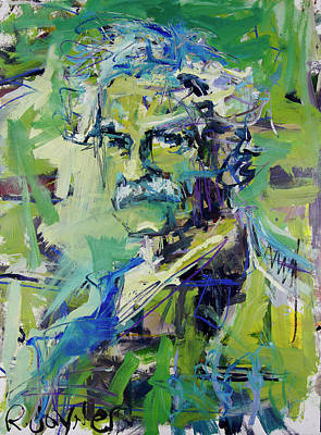 Painting - Mark Twain Portrait by Robert Joyner