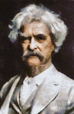 Airforce Painting - Mark Twain, Writer by Mary Bassett