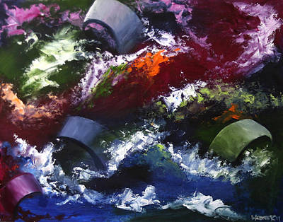 Art Print featuring the painting Mark Webster - Abstraction 1 by Mark Webster