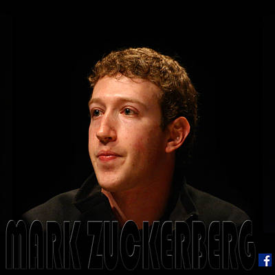 Photograph - Mark Zuckerberg 3 by Andrew Fare
