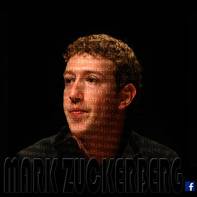 Photograph - Mark Zuckerberg 4 by Andrew Fare