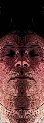 Old Man Digital Art - Marked Man by Ron Bissett
