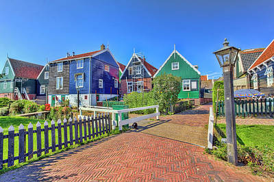 Photograph - Marken Wooden Houses by Nadia Sanowar