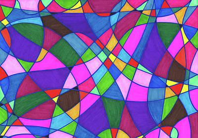 Marker Mosaic Art Print
