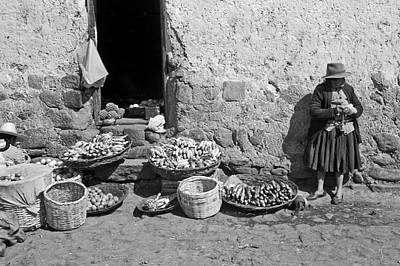 Peru Photograph - Market - Peru by John Battaglino