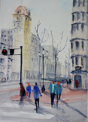 Painting - Market And  Grant Avenue by Tom Simmons