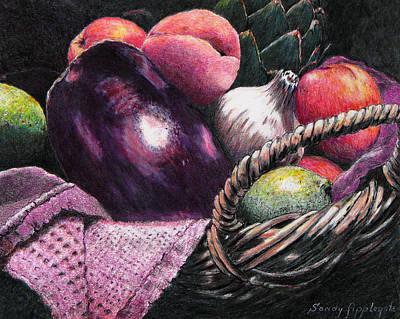 Market Basket 14 Original by Sandy Applegate