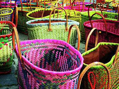 Market Baskets - Libourne Art Print
