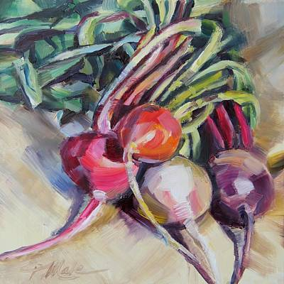 Painting - Market Beets by Tracy Male