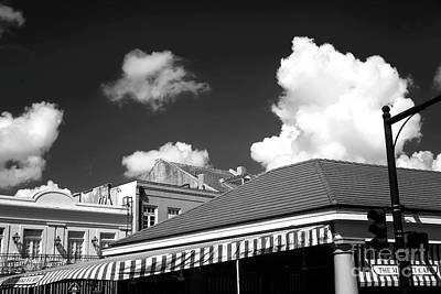 Photograph - Market Cafe Clouds Infrared by John Rizzuto