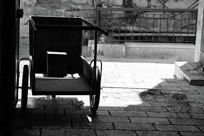 Photograph - Market Cart In Pedestrian Street II by Yoel Koskas