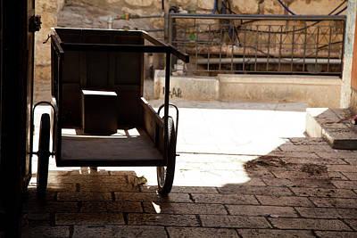 Photograph - Market Cart In Pedestrian Street by Yoel Koskas