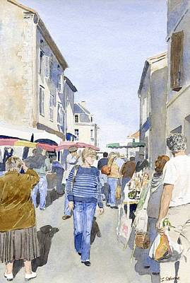 Market Day   Art Print by Ian Osborne