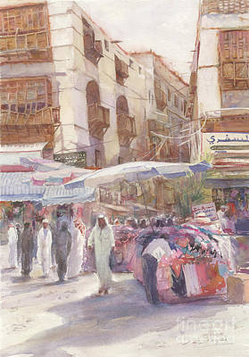 Souq Painting - Market Day Arabia by Dorothy Boyer