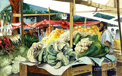 Market Day At Ipanema Art Print