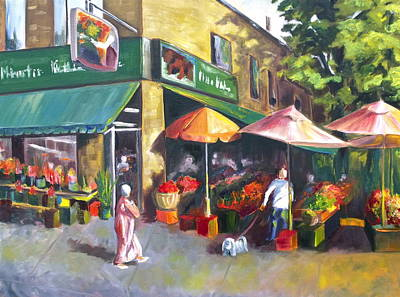 Market Day Art Print by Diane Daigle
