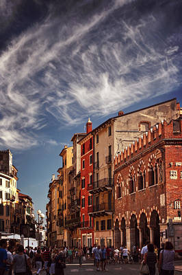 Veneto Photograph - Market Day In Verona by Carol Japp
