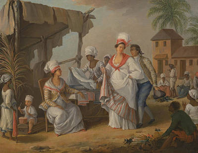 Indy Indians Painting - Market Day, Roseau, Dominica by Agostino Brunias