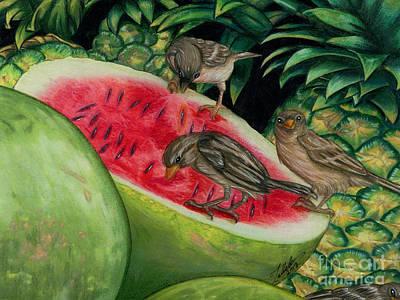 Watermelon Mixed Media - Market Day by Tabbatha Bella