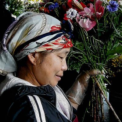 Seattle Photograph - Market Flowers by David Patterson