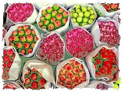 Market Flowers - Hong Kong Art Print