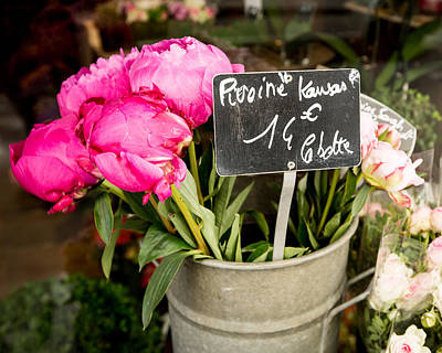 Photograph - Market Flowers - Paris, France by Melanie Alexandra Price