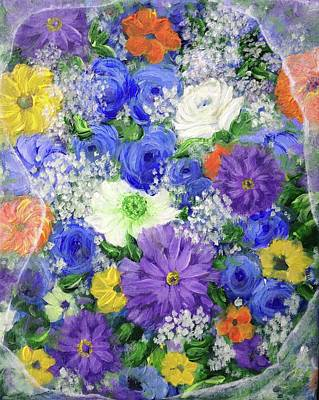 Painting - Market Flowers by T Fry-Green