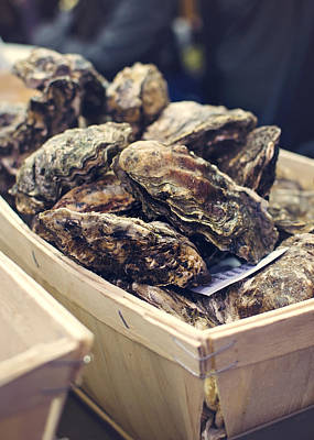 Photograph - Market Fresh Oysters by Heather Applegate