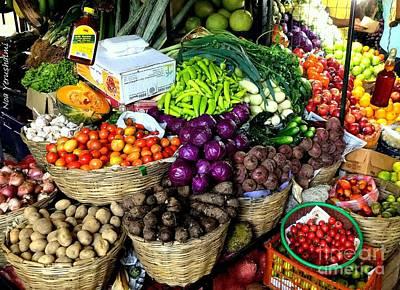 Market Fruits N Vegetables Art Print by Noa Yerushalmi