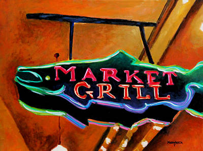 Painting - Market Grill by Marti Green