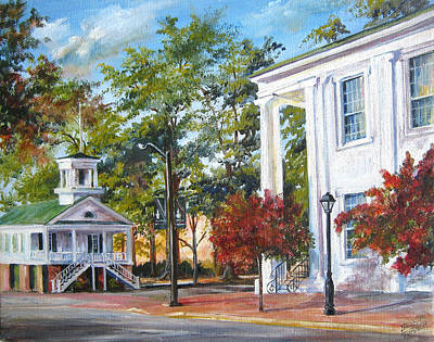 Market Hall In The Fall Art Print by Gloria Turner
