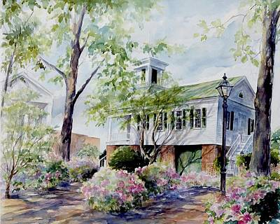 Market Hall In The Spring Art Print by Gloria Turner