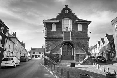 Photograph - Market Hall In Woodbridge In Black And White by Leah Palmer