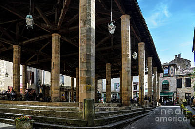 Market Hall Of Cordes-sur-ciel Art Print