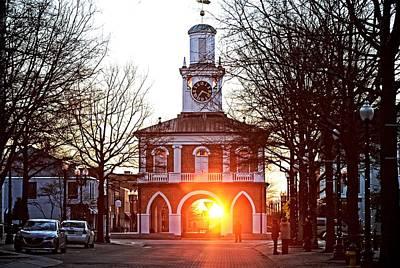 Observer Photograph - Market House Sunrise - Fayetteville Nc- January 28 2015 - First Light by Matt Plyler