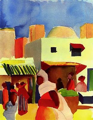 Market In Algiers Art Print